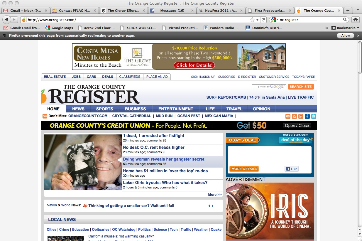 Parting Ways Column Receives Top Story At The Oc Register border=